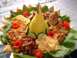 cara membuat nasi tumpeng